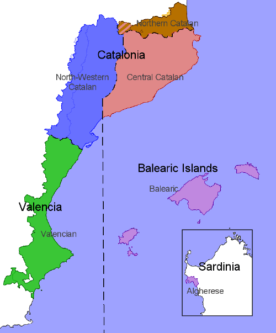 Map of Catalan dialects