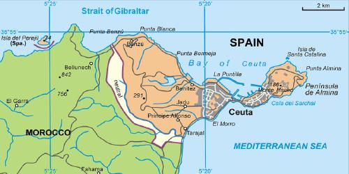 Ceuta l'espagnole sur le continent africain