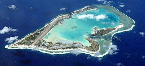 Le lagon de Wake Island