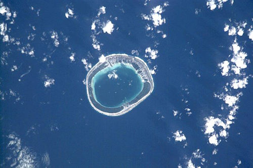The Vahanga lagoon