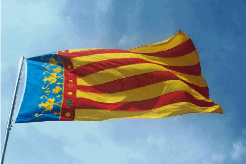 The flag of the Valencian Community